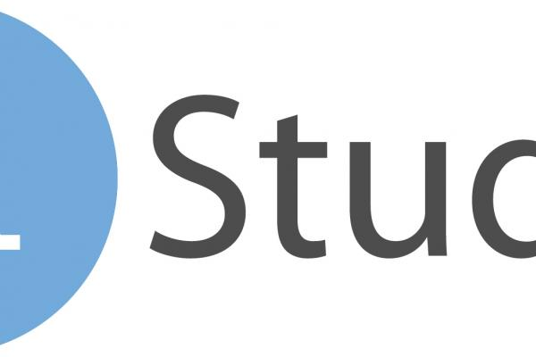 rstudio logo blue gray
